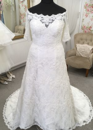 Front view of Alfred Angelo wedding dress