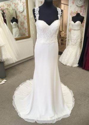 front view of wed4less wedding dress